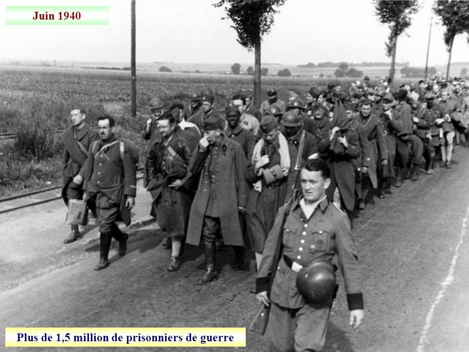 22 juin 1940 Signature de larmistice: la France est coupée en deux