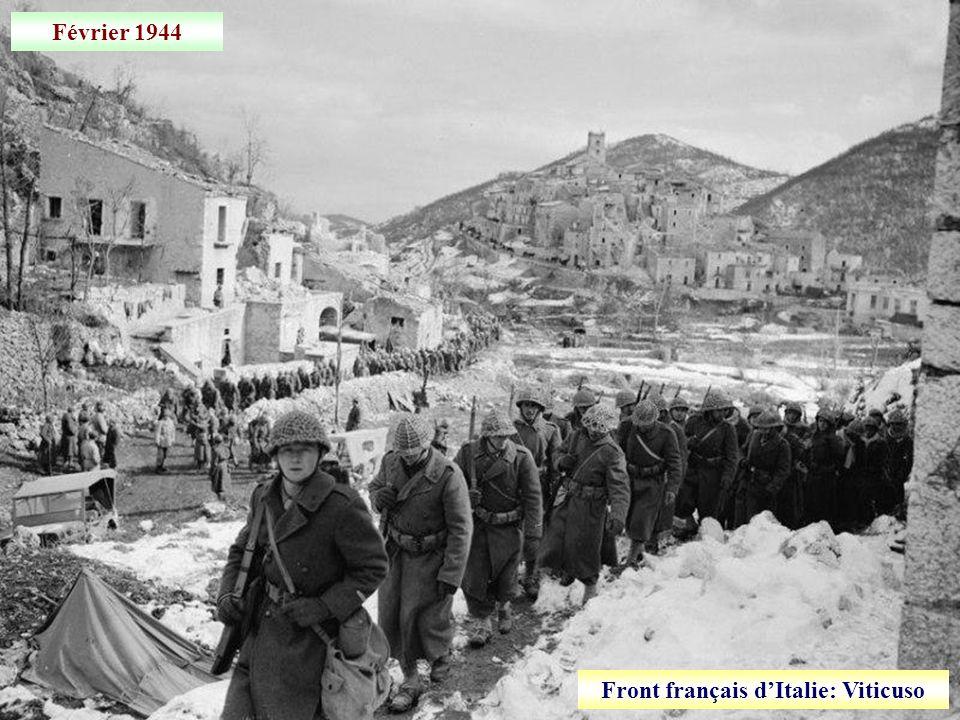 Janvier 1944 Artillerie sur le front français dItalie
