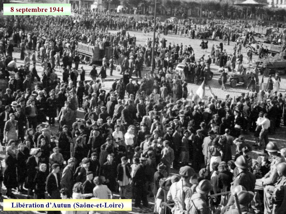 8 septembre 1944 Libération dAutun (Saône-et-Loire)