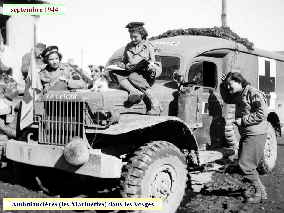 septembre 1944 Retraite allemande entre Dole et Dijon