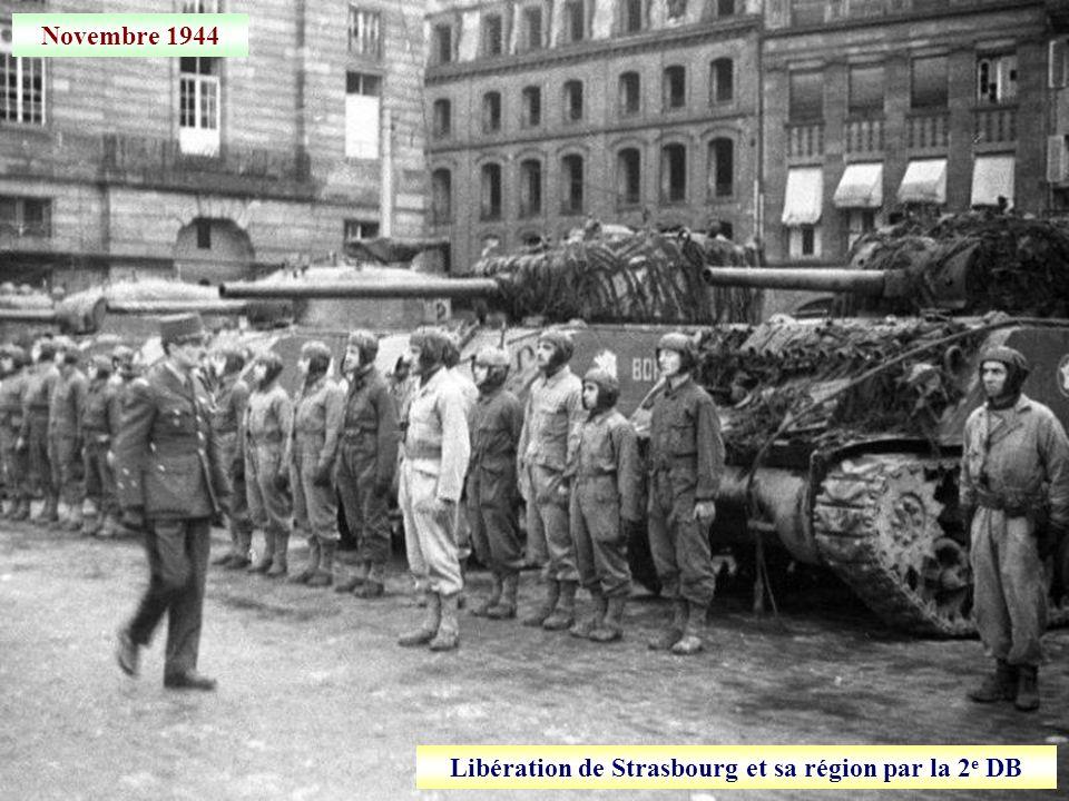23 novembre 1944 Progression des blindés vers Strasbourg