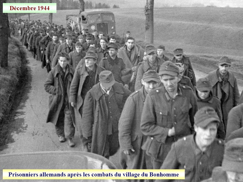 24 décembre 1944 Libération du village du Bonhomme (Haut-Rhin)