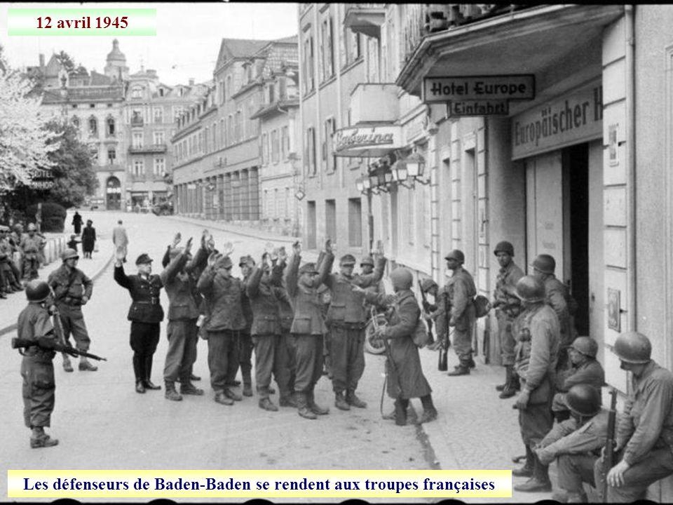 12 avril 1945 Prise de Baden-Baden
