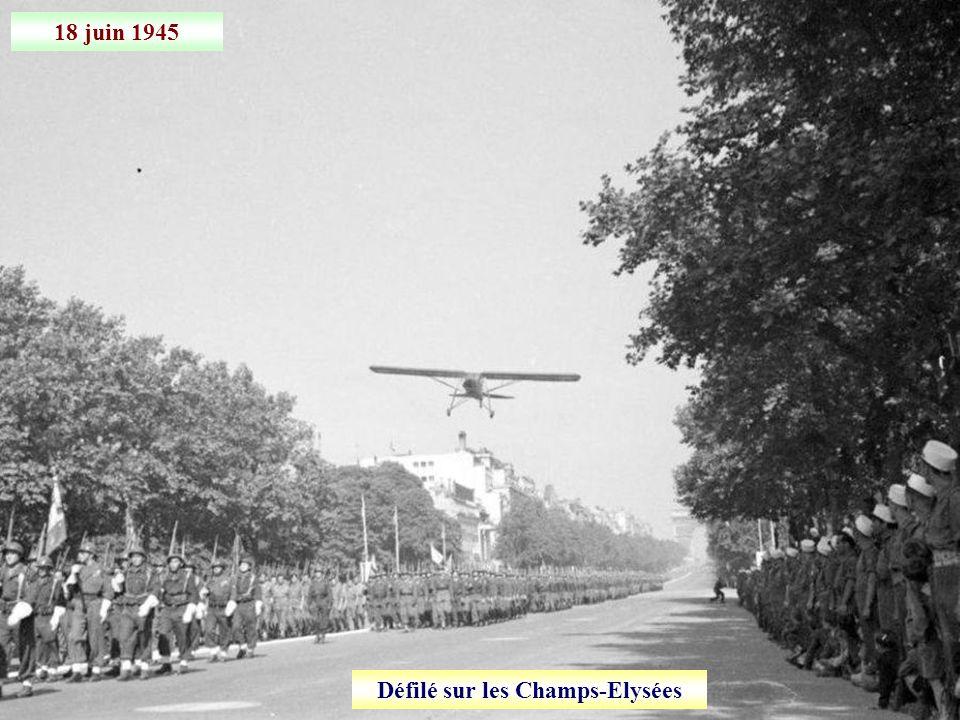 1 er juin 1945 Arrivée du millionième prisonnier rapatrié en France