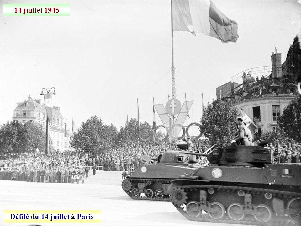 18 juin 1945 Défilé sur les Champs-Elysées