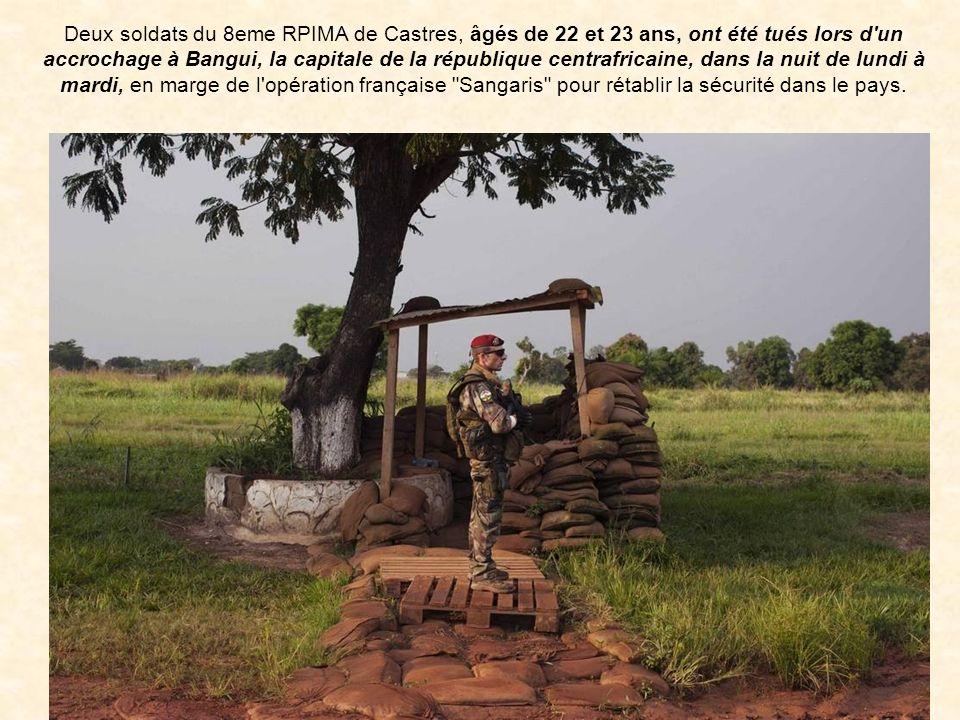 le soldat de 1re classe Nicolas VOKAER Le soldat de 1re classe Antoine LE QUINIO