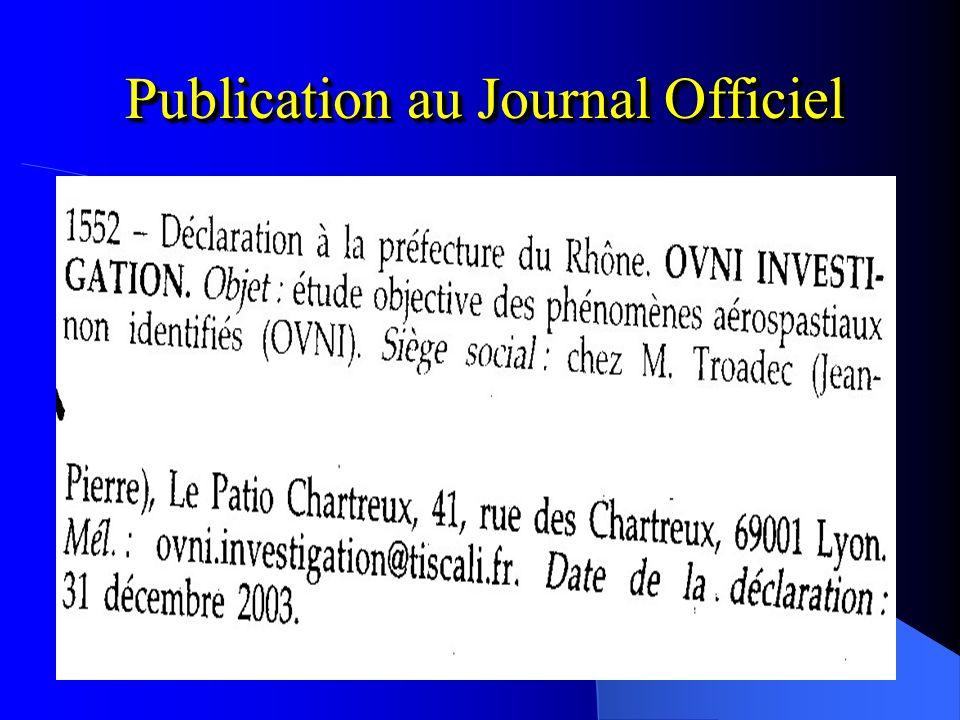 Récépissé de Déclaration de création dAssociation 11 février 2003 Nous sommes enregistrés sous le numéro : W691052198 Nous sommes enregistrés sous le