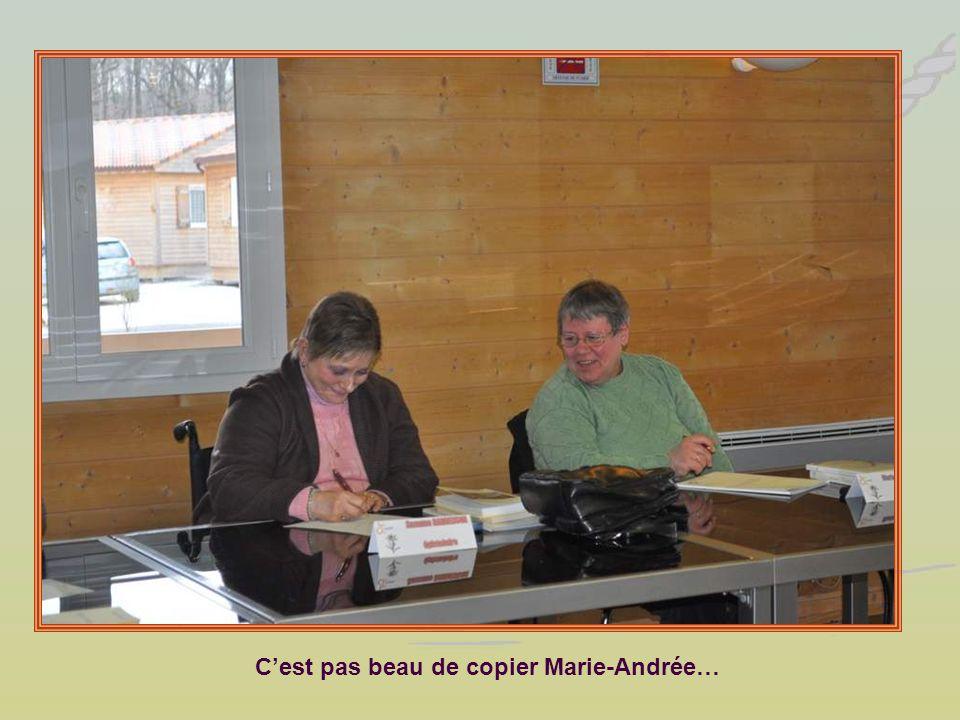 Cest pas beau de copier Marie-Andrée…