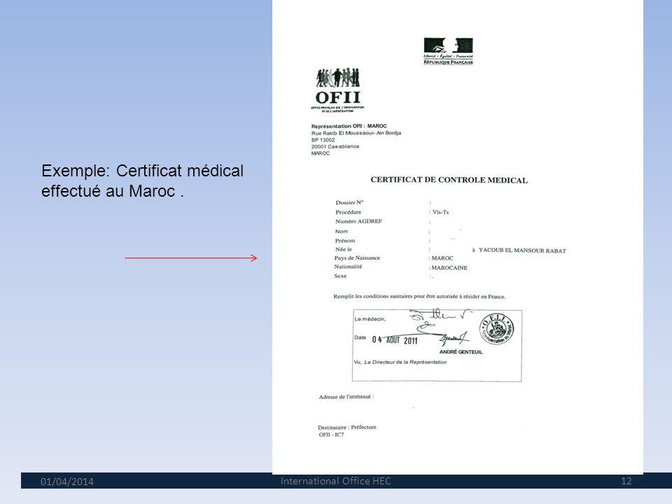 01/04/2014 11 6 e étape: La validation de votre VLS/TS et la visite médicale. 1.Votre référent pour les titres de séjour à HEC, Mme Agnès Tourneix, en