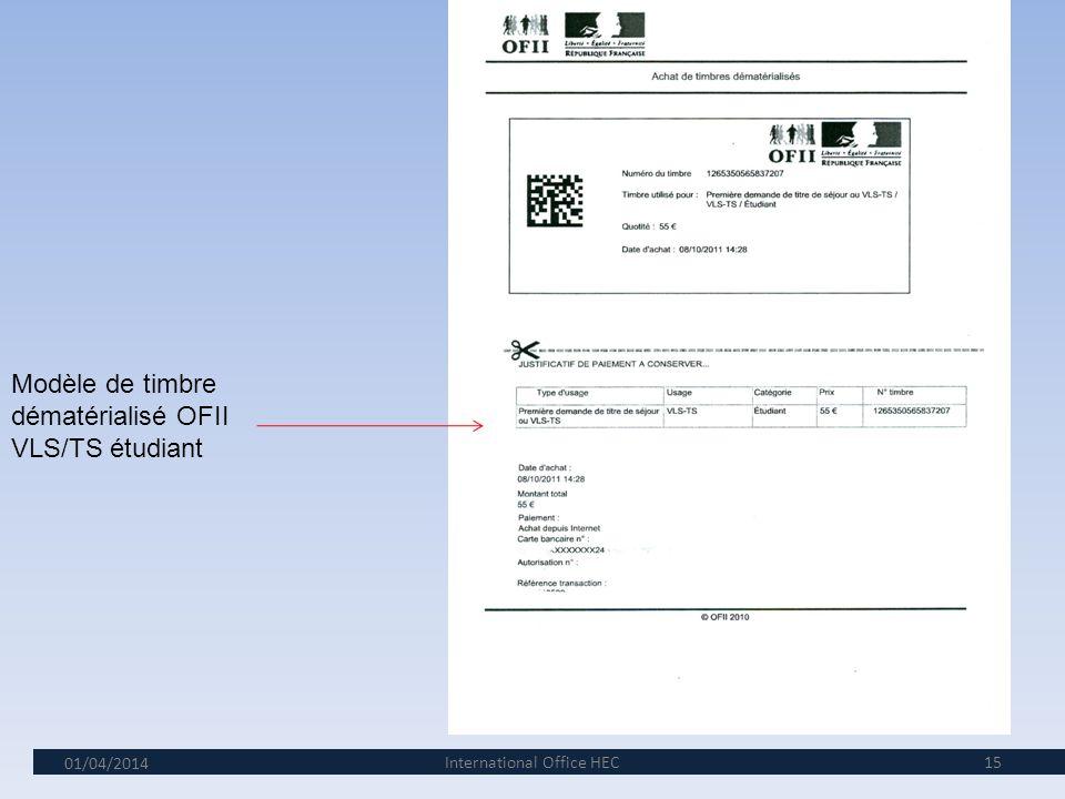 01/04/2014 I 14 Que devez-vous apporter lors de votre visite à lOFII? 1. Votre convocation de 5 pages 2.Votre passeport 3.Une photographie conformes a