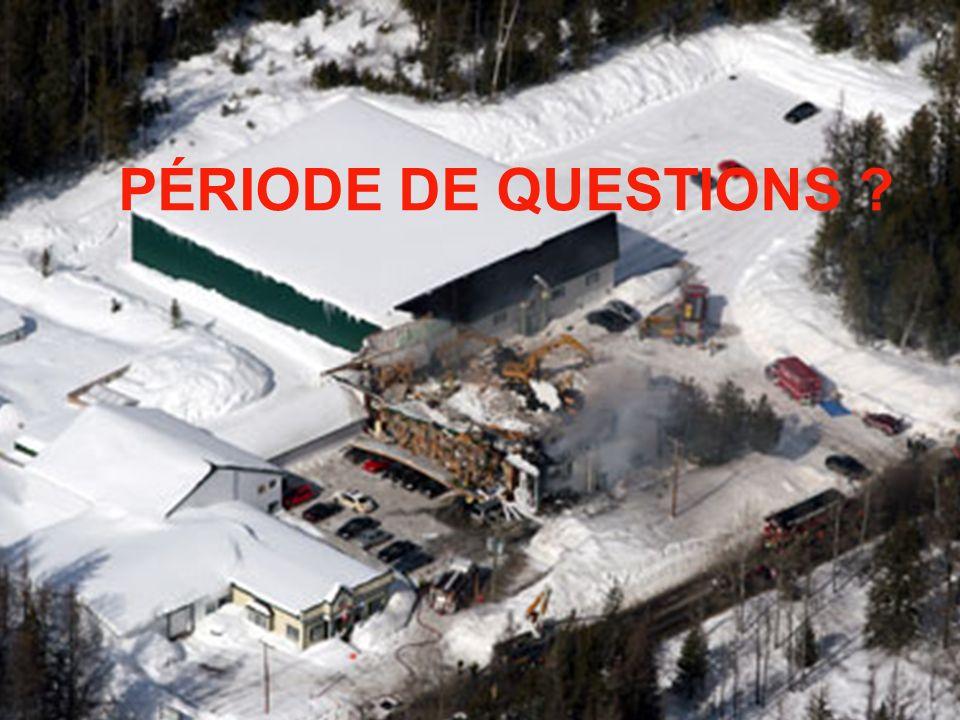 PÉRIODE DE QUESTIONS ?