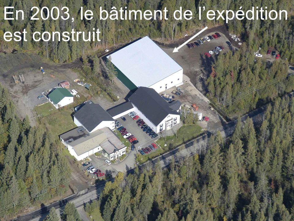 En 2003, le bâtiment de lexpédition est construit