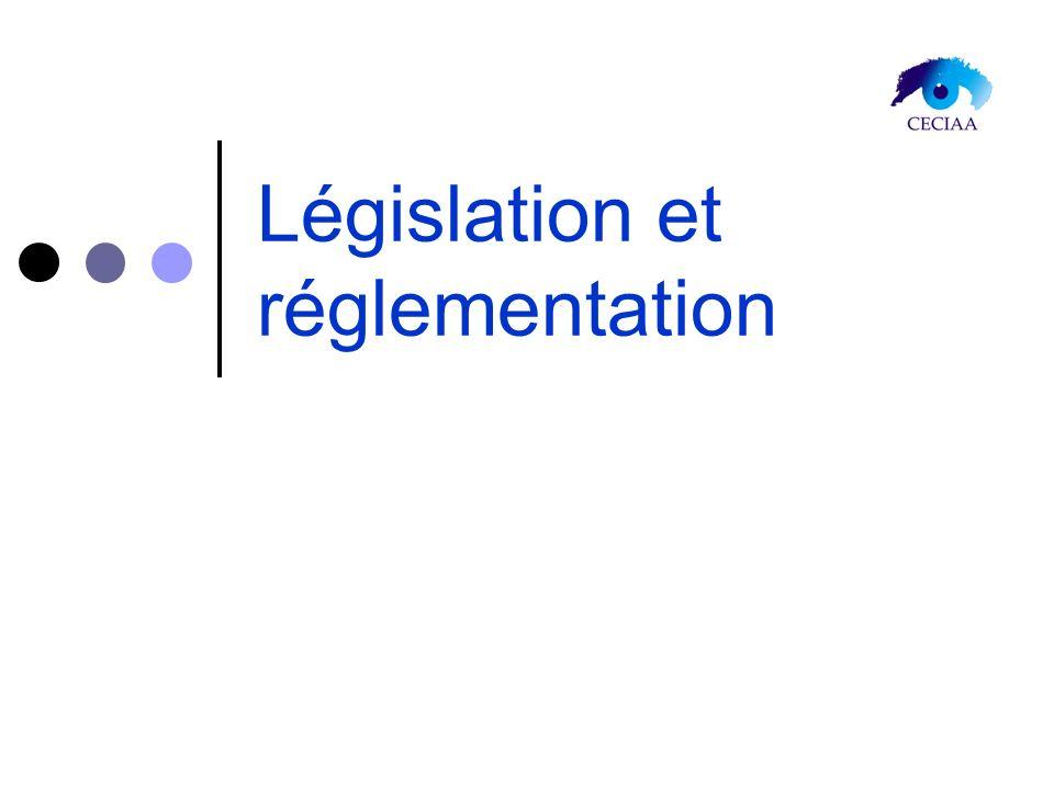 Législation et réglementation