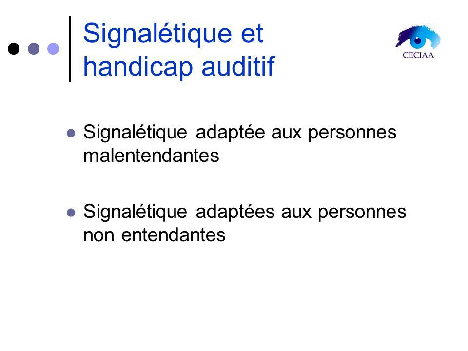 Signalétique et handicap auditif Signalétique adaptée aux personnes malentendantes Signalétique adaptées aux personnes non entendantes