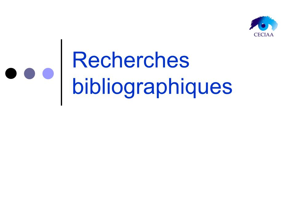 Recherches bibliographiques