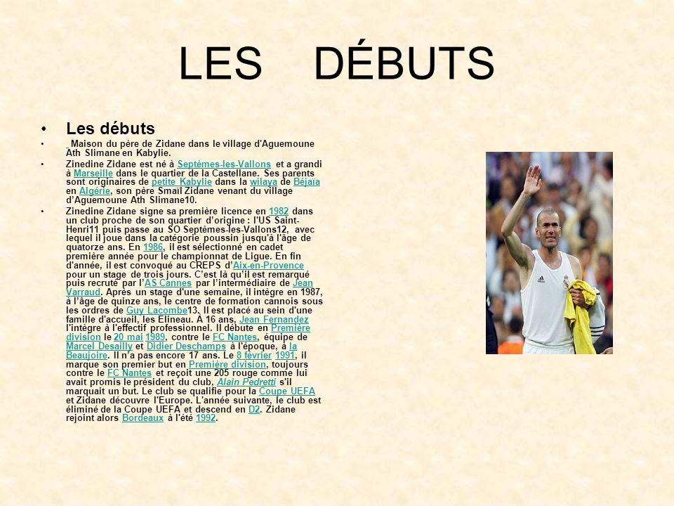 ZIDANE Zinedine Yazid Zidane est un joueur de football français issu d'une famille algérienne kabyle né le 23 juin 1972 à Septèmes-les-Vallons. Il gra