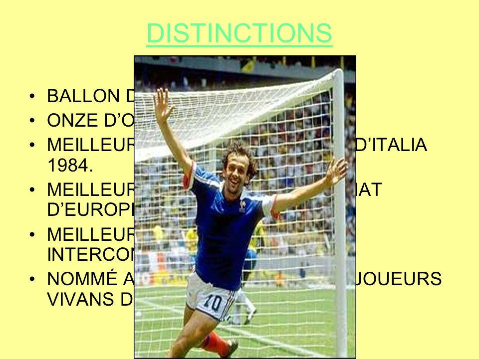 PALMARES Palmarès Zidane sous les couleurs du Real Madrid Championnat : 506 matches, –1ère Division : 200 matches,1ère Division –Série A : 151 matches,Série A –Primera Division : 155 matches,Primera Division Coupes dEurope : 117 matches, Coupes : 52 matches, Équipe de France : 108 matches,Équipe de France Total toutes compétitions confondues : 794 matches, 156 buts soit 0,19 but par match 1 sélection avec léquipe FIFA, face à lItalie à Rome en 1998FIFARome1998 1 sélection avec léquipe dEurope, face à celle de la FIFA en 1997 (il rejouera face à la FIFA en 2000, avec l équipe de France à Mar19972000équipe de FranceMar
