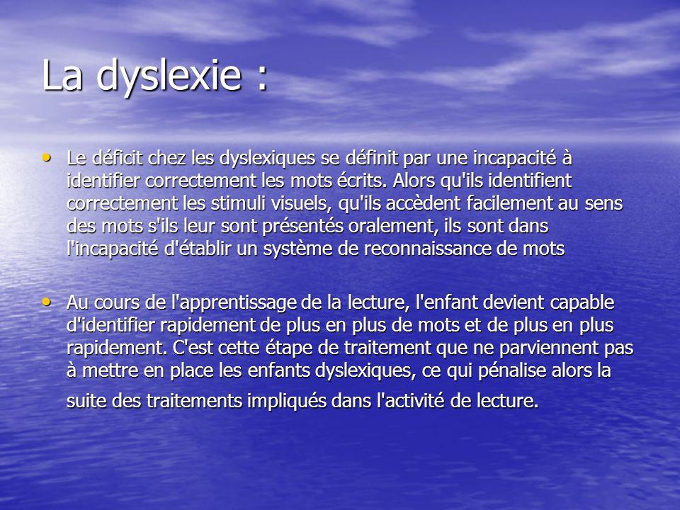 Diagnostic différentiel L identification des enfants dyslexiques repose depuis les années 1970 sur une définition négative.