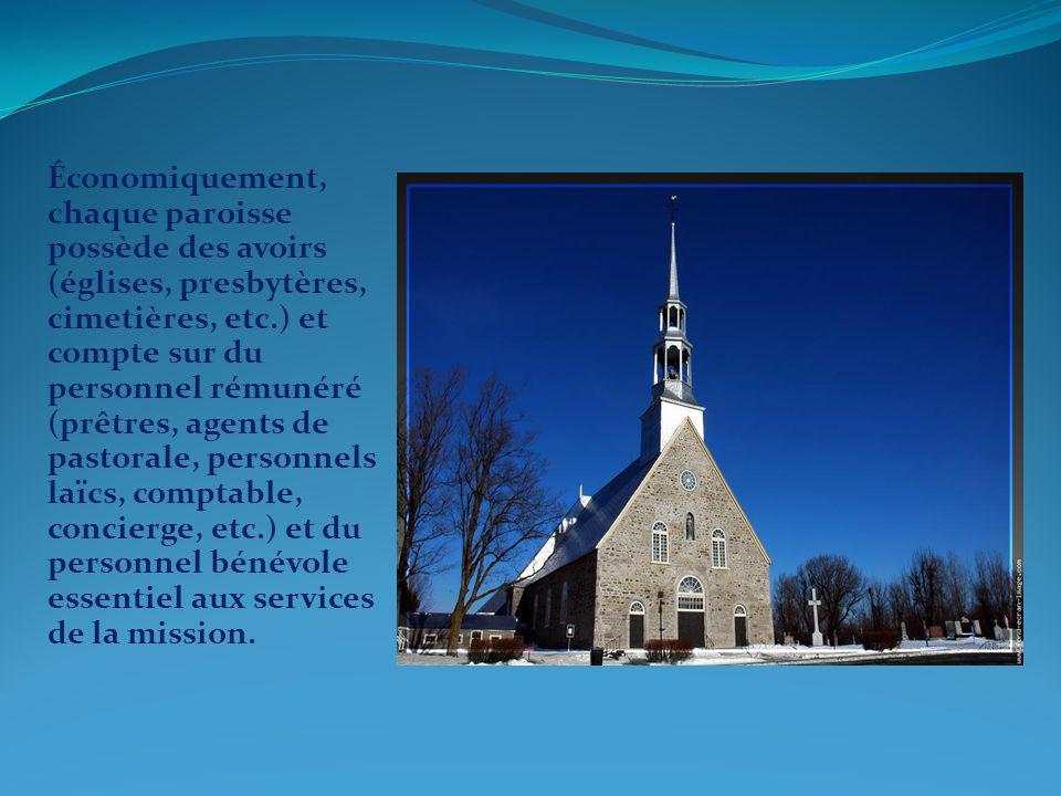 Sous lautorité de lévêque, la responsabilité de votre paroisse est confiée à votre curé qui voit à ladministration avec lassemblée de fabrique telle que définie dans la loi provinciale du Québec sur les fabriques.
