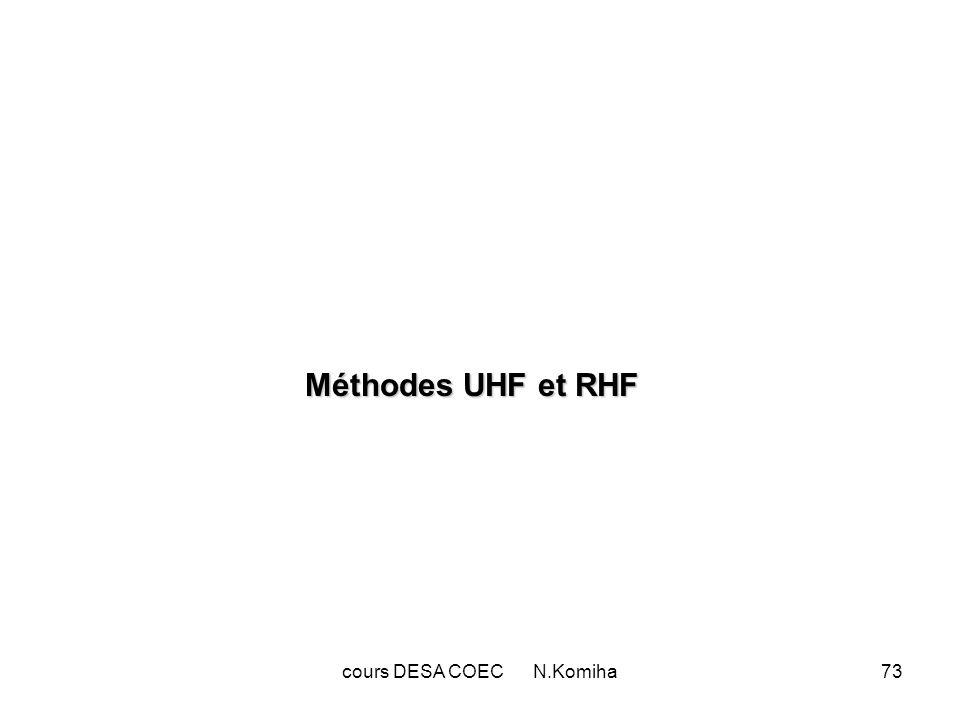 cours DESA COEC N.Komiha73 Méthodes UHF et RHF