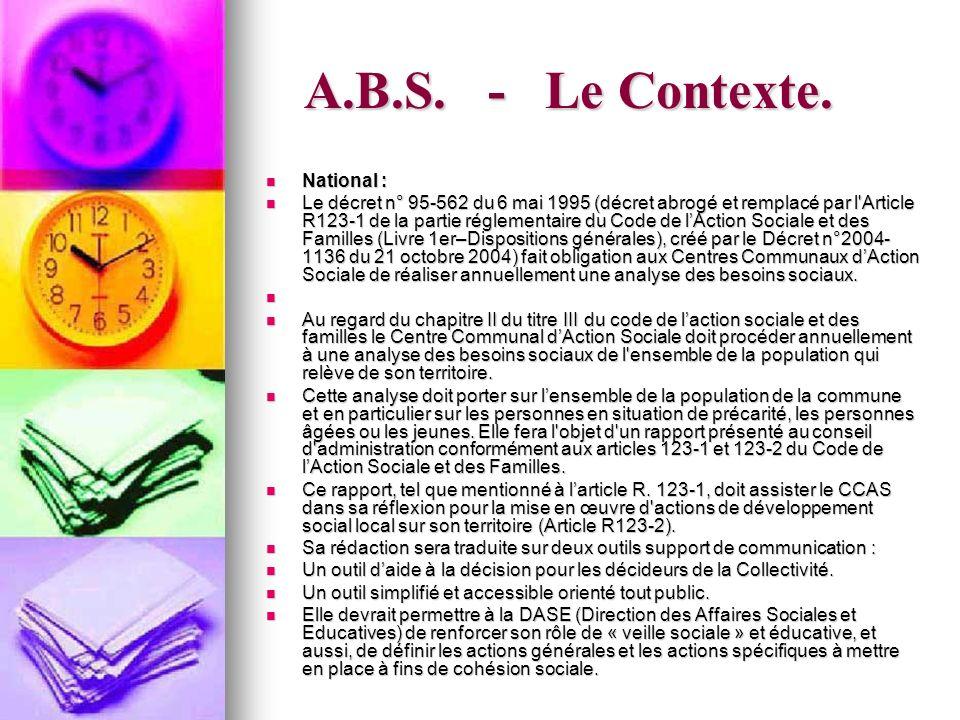 A.B.S.- Le Contexte.
