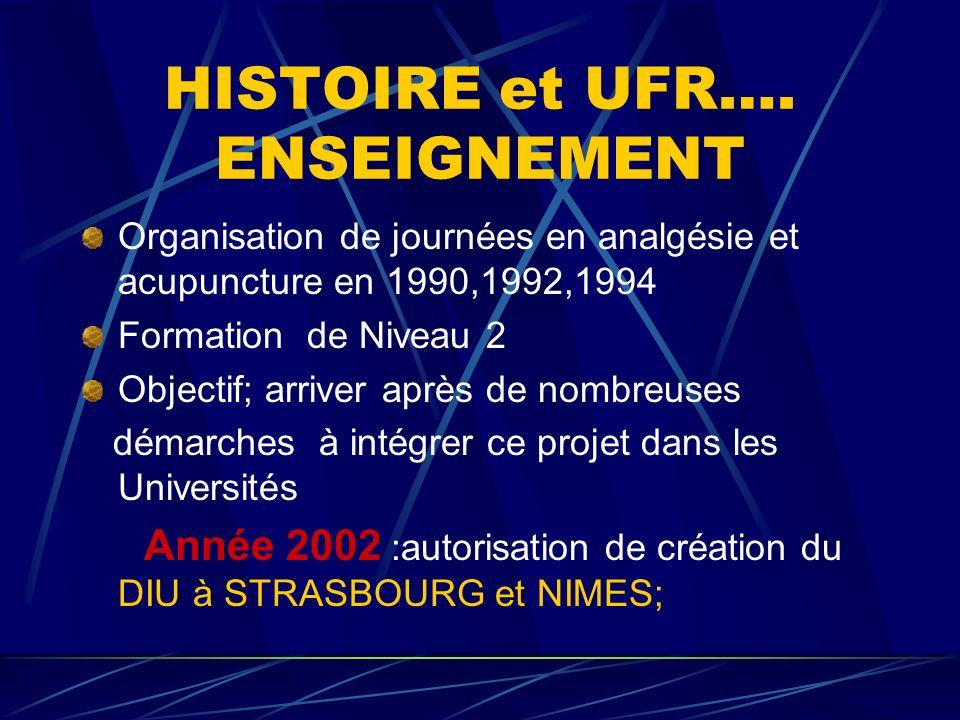 HISTOIRE et UFR….