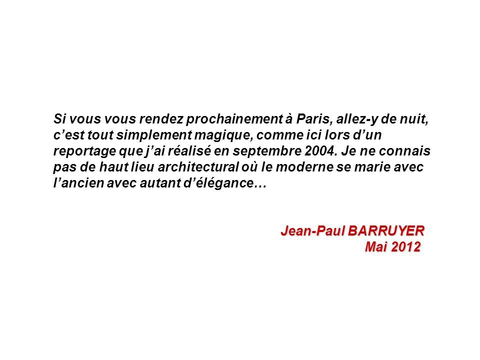 Si vous vous rendez prochainement à Paris, allez-y de nuit, cest tout simplement magique, comme ici lors dun reportage que jai réalisé en septembre 2004.