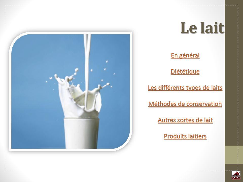 Les produits laitiers Le lait est un aliment de base qui peut être transformé pour fabriquer toutes sortes de produits.