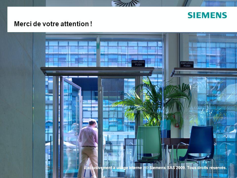 Building Technologies France Siemens SAS Merci de votre attention .