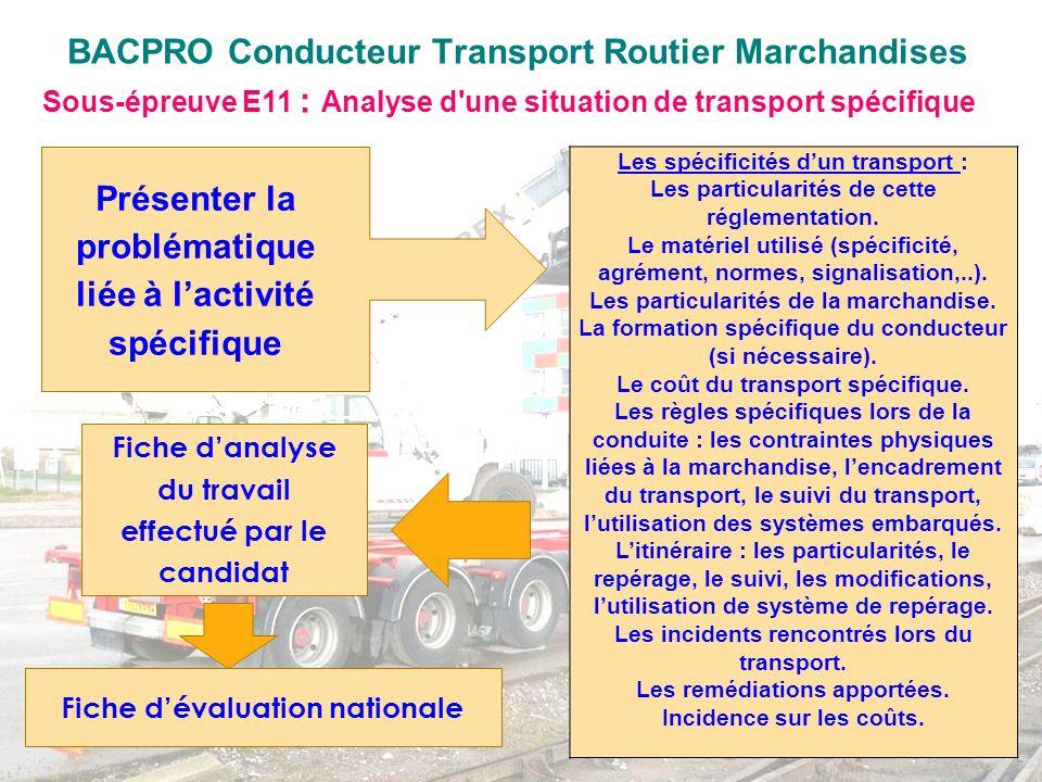 Les spécificités dun transport : Les particularités de cette réglementation. Le matériel utilisé (spécificité, agrément, normes, signalisation,..). Le