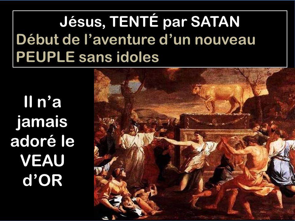 Jesús séjourne quarante jours au DÉSERT -Tel que Noé, dans lArche, en attendant que le Déluge finisse, pour refaire la Nouvelle Vie (Gen 7,4) -Tel que le peuple en marchant dans le désert, avant dentrer dans la Terre Promise (Ex 15,35) -Tel que Moïse, dans la nuée, avant décrire les Tables de la Loi (Ex 24,18) -Tel que Caleb et les explorateurs, pour conquérir la Terre Nouvelle (Nom 13,25) -Tel quÉzéchiel, lorsquil prit sur lui durant 40 jours le péché dIsraël (Ez 4,6) -Tel que Judith, avant de sauver la ville de Béthulie (Jd 7,20)
