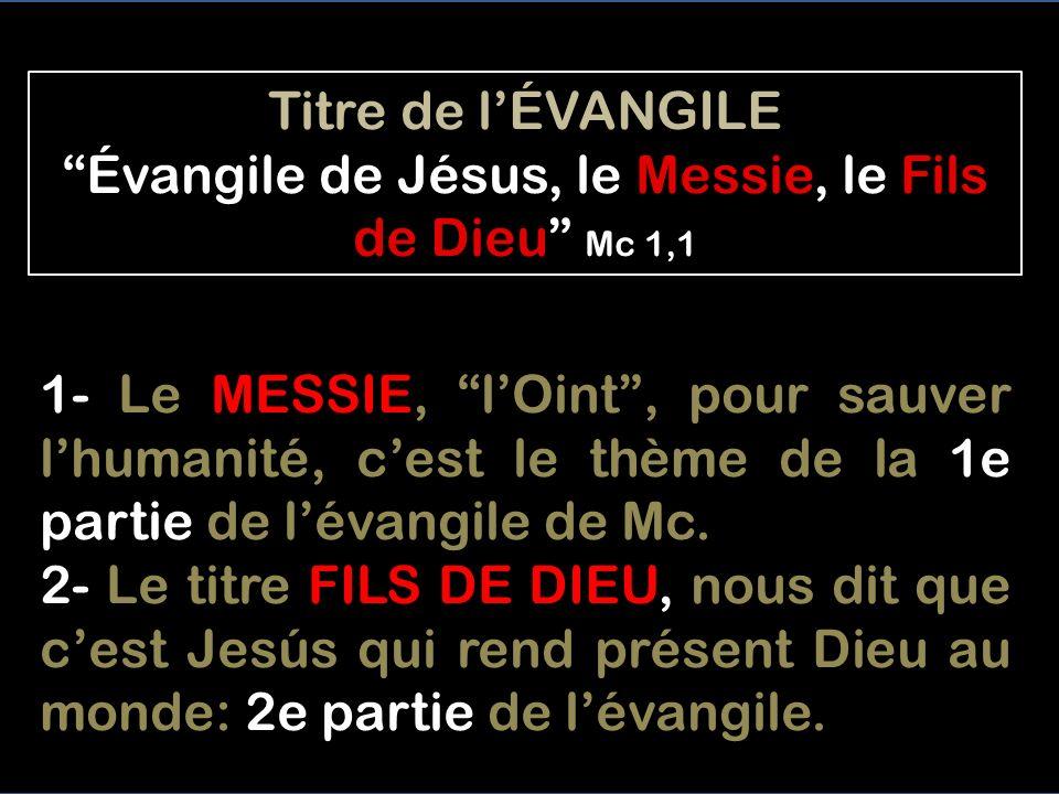 La théologie de Mc est la plus proche de Jésus, celle de Jean est la plus tardive et plus élaborée. Le Jésus historique ne dit jamais ouvertement quIl