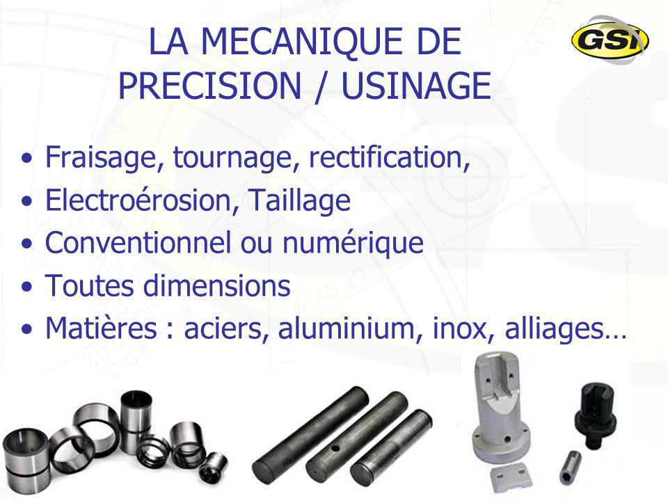 19 LA MECANIQUE DE PRECISION / USINAGE Fraisage, tournage, rectification, Electroérosion, Taillage Conventionnel ou numérique Toutes dimensions Matières : aciers, aluminium, inox, alliages…
