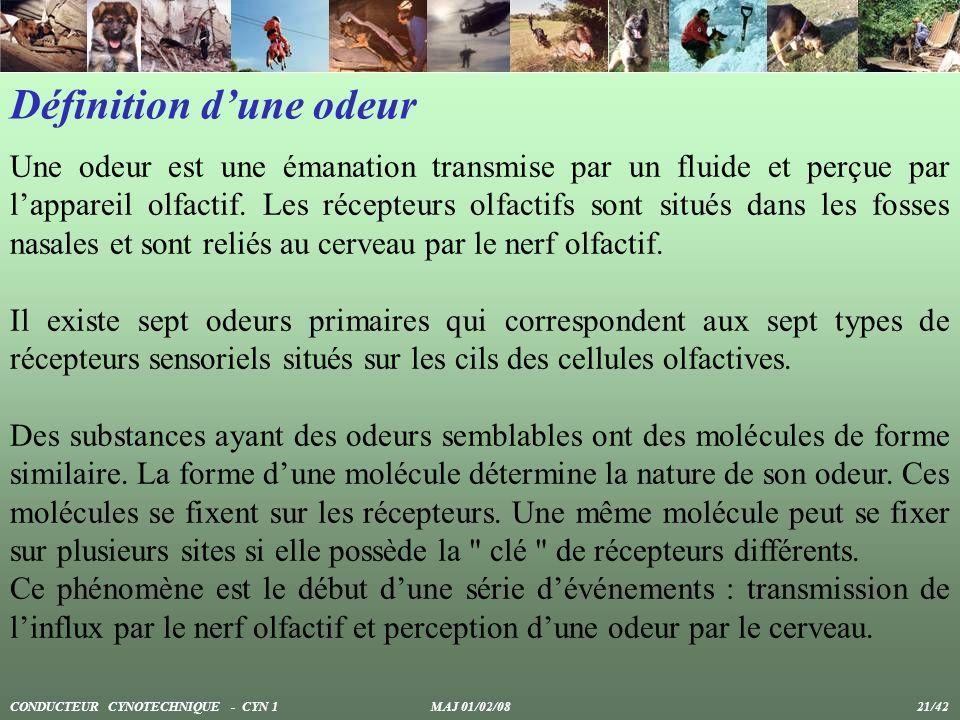 Définition dune odeur Une odeur est une émanation transmise par un fluide et perçue par lappareil olfactif. Les récepteurs olfactifs sont situés dans