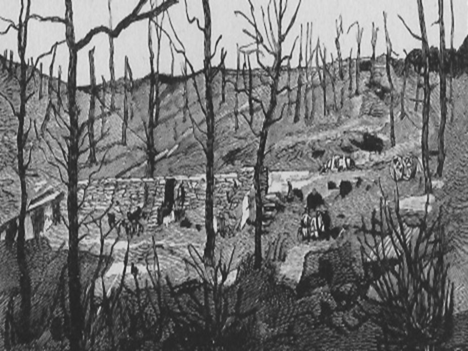 Les troupes britanniques, menacées à revers sur les positions conquises entre Ypres et le Mont Kemmel, décident d'évacuer la zone de la forêt d'Houthu