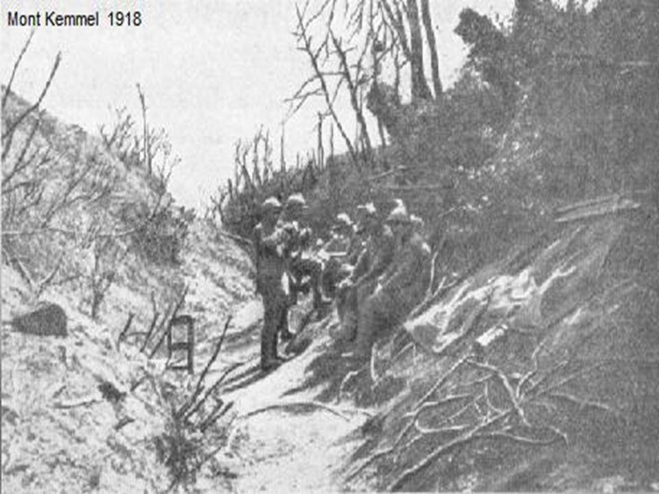 Du 28 au 30 septembre 1918, dix divisions sur les douze que compte l'armée belge sont engagées dans la bataille des crêtes des Flandres, soutenues sur