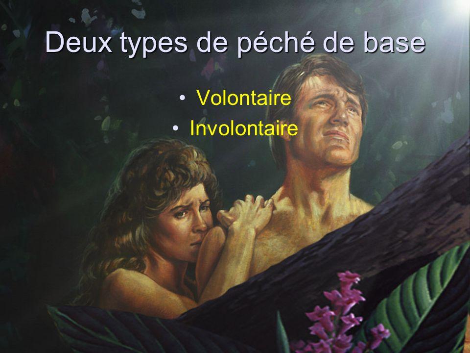 Deux types de péché de base Volontaire Involontaire