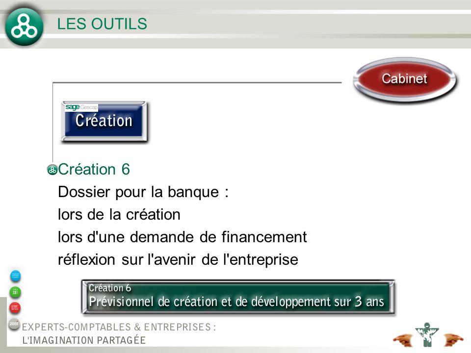Création 6 Dossier pour la banque : lors de la création lors d'une demande de financement réflexion sur l'avenir de l'entreprise