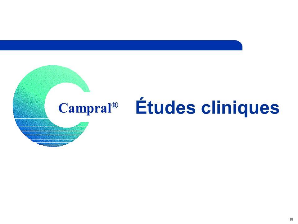 16 Campral ® Études cliniques