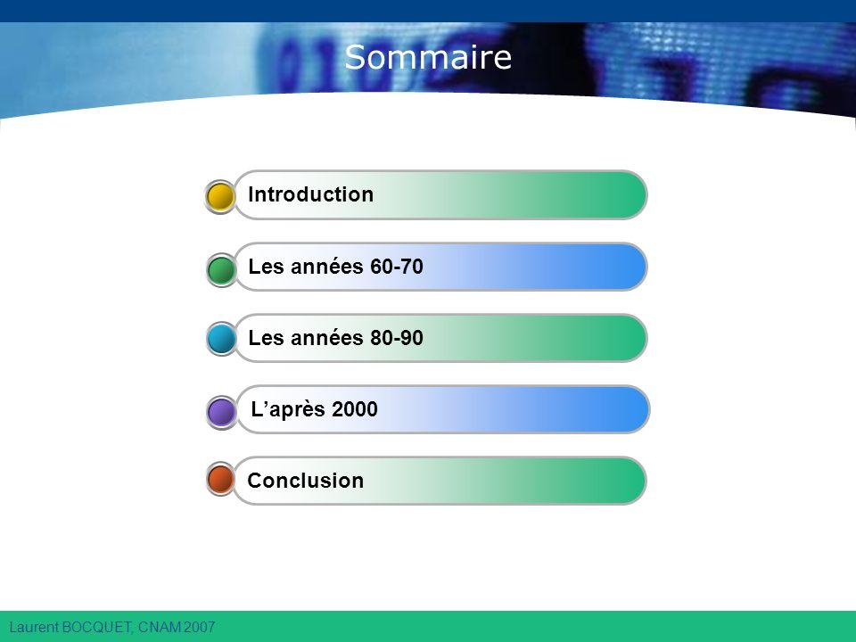 Laurent BOCQUET, CNAM 2007 Sommaire Conclusion Laprès 2000 Les années 80-90 Les années 60-70 Introduction