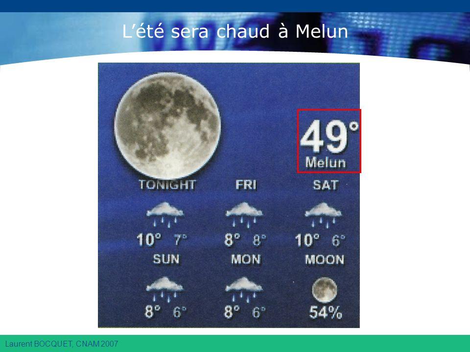 Laurent BOCQUET, CNAM 2007 Lété sera chaud à Melun
