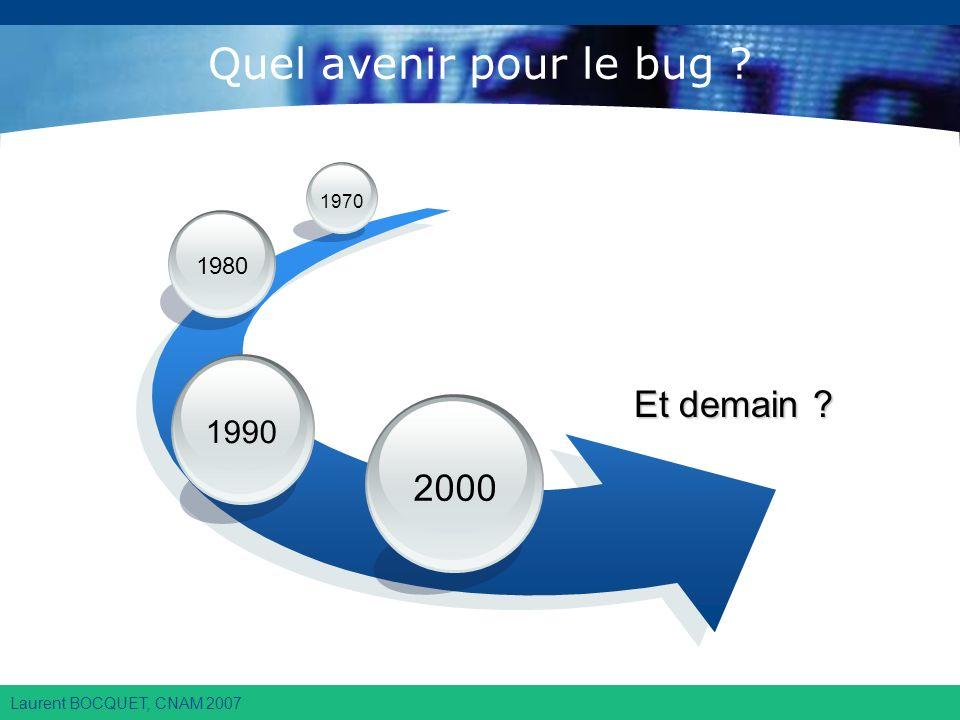 Laurent BOCQUET, CNAM 2007 Quel avenir pour le bug ? Et demain ? 2000 1990 1980 1970