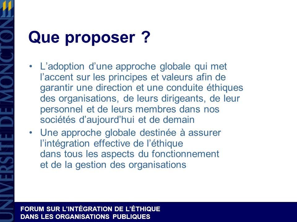 2.Planification de la Gestion éthique intégrée (GEI)