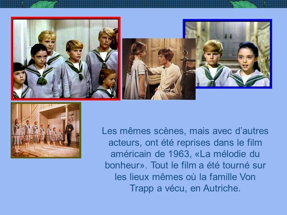 Photo extraite du film allemand de 1956, Die Trapp Familie. Maria, une novice au couvent des Clarisses, «prêtée» comme gouvernante à la famille du cap