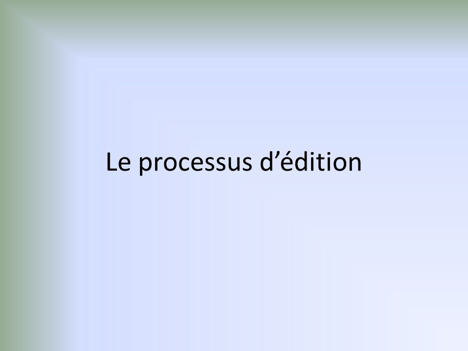 Proposition initiale Refus définitif Acceptation potentielle Rédaction Experts Modifications demandées Refus définitifModifications mineuresModifications majeures Rédaction Experts Rédaction Publication