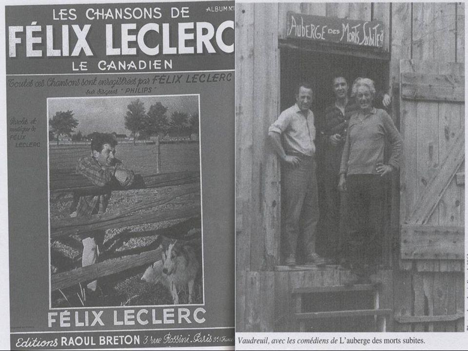 Biographie de Félix Leclerc MONUMENT réalisé par le sculpteur Raoul Hunter, à l'île d'Orléans dès 1989; MONUMENT réalisé par le sculpteur Raoul Hunter