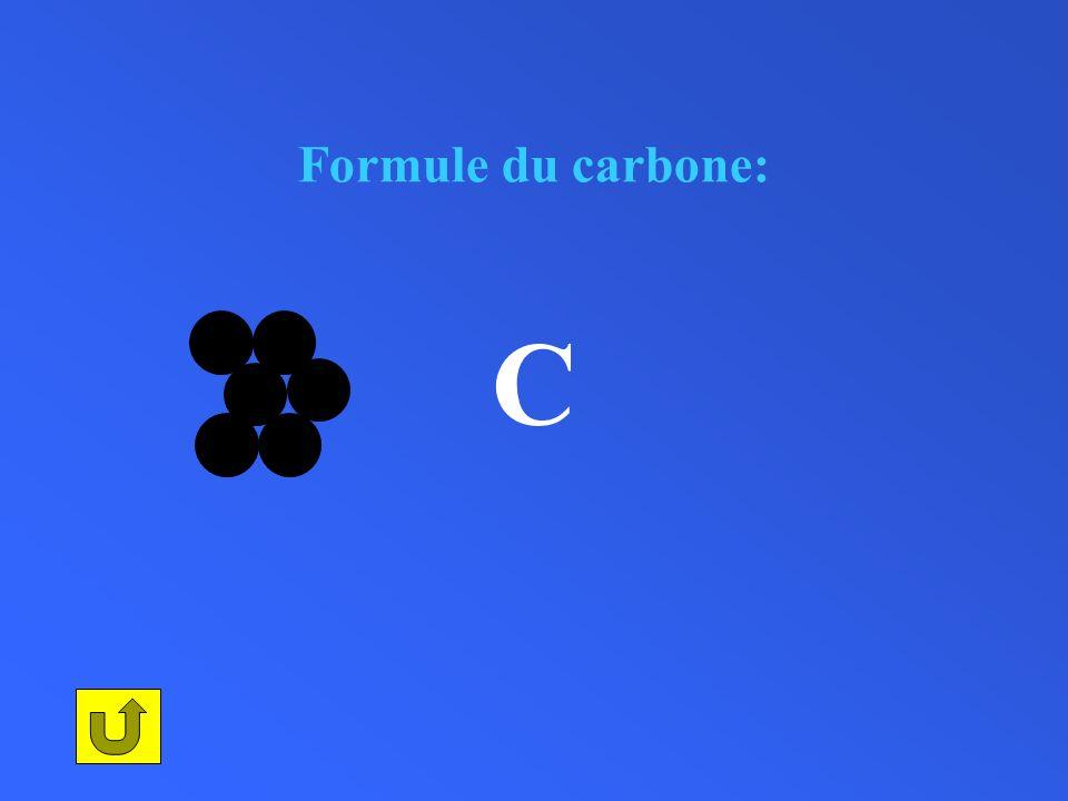 Formule du carbone: C