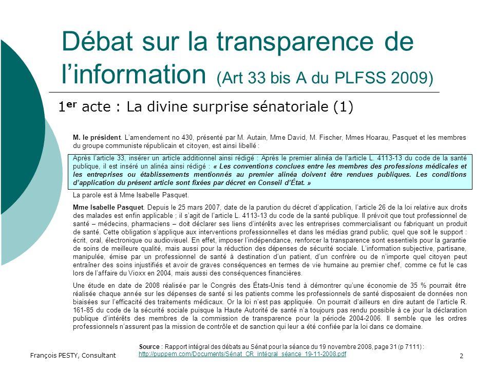 François PESTY, Consultant 2 M. le président. Lamendement no 430, présenté par M.