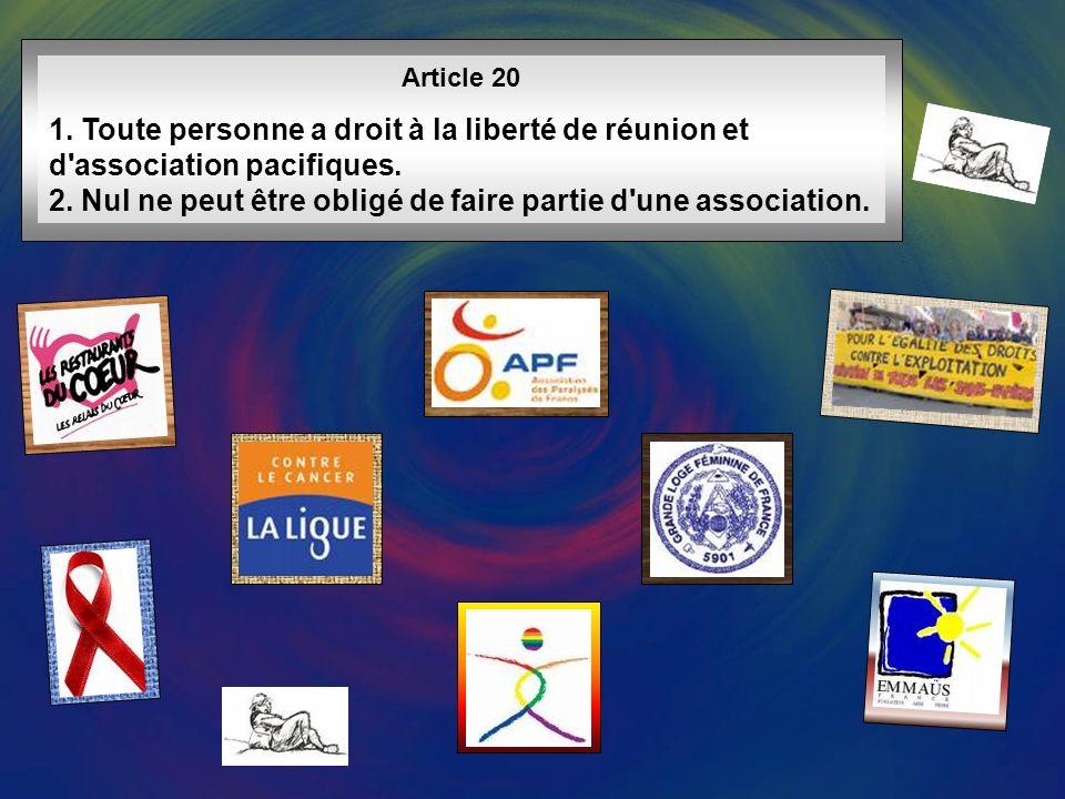 Article 19 Tout individu a droit à la liberté d opinion et d expression, ce qui implique le droit de ne pas être inquiété pour ses opinions et celui de chercher, de recevoir et de répandre, sans considérations de frontières, les informations et les idées par quelque moyen d expression que ce soit.