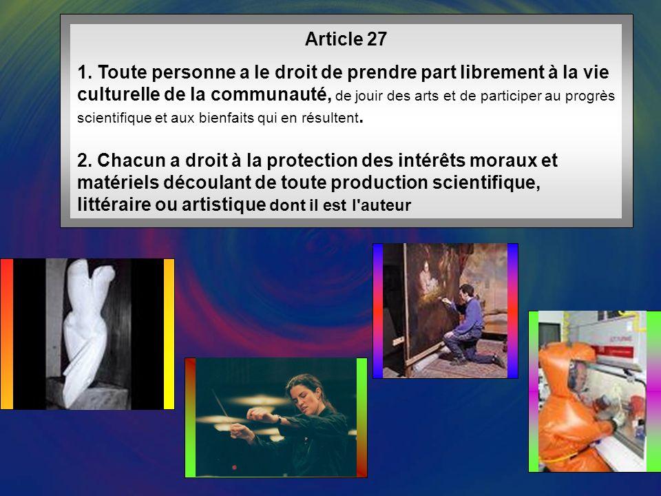 Article 26 1.Toute personne a droit à l éducation.